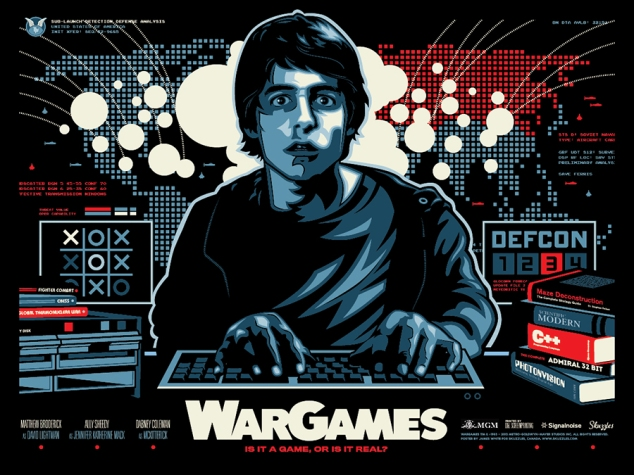War Games Movie Poster By James White